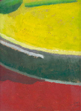 Objecte macro paleta Oli sobre paper 25 x 30 cm