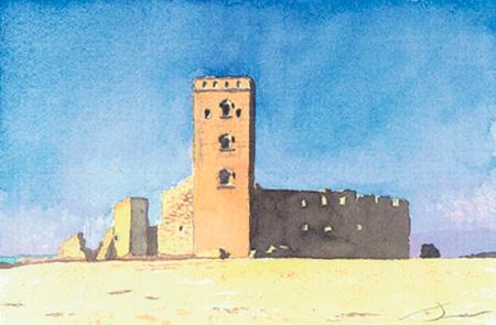 Castell de Ciutadilla Aquarel·la 15 x 23 cm