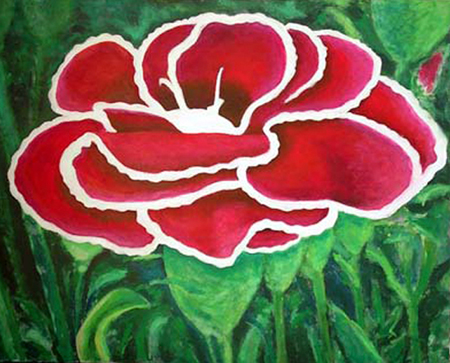 Clavellina Pintura Acrílica 100 x 81 cm