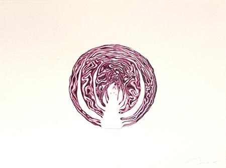 Col lombarda Acuarel·la 31X23 cm