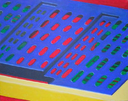 Colors plegats Acrílic sobre tela 81 x 65 cm