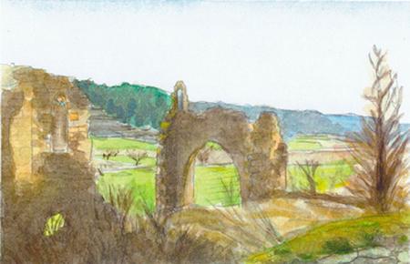 Convent de Vall Santa Aquarel·la 15 x 23 cm