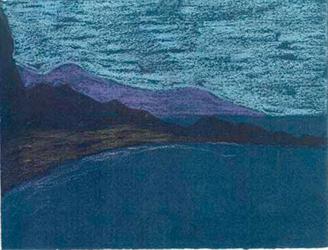 Eivissa Pintura al pastel 17 x 13 cm