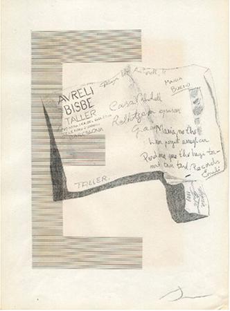 Emili Bisbe Dibuix i collage sobre paper 21 x 29  cm