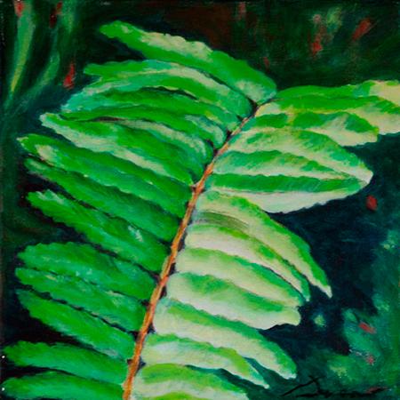 Falguera Acrílic sobre tela 30 x 30 cm