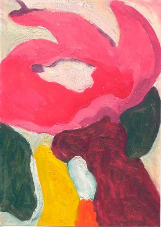 Flor 12 Oli sobre paper 32 x 44 cm