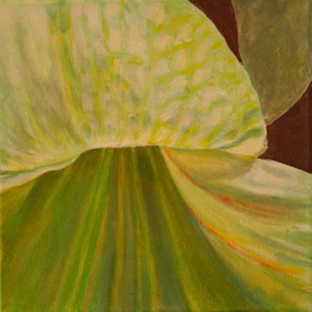Flor Verda Acrílic sobre tela 30 x 30 cm