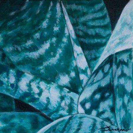 Fulles Blaves Acrílic sobre tela 30 x 30 cm