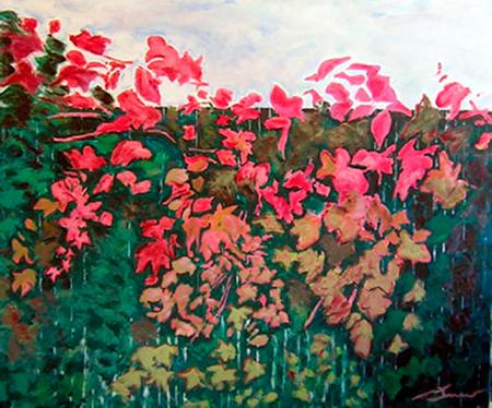 Fulles parra Pintura Acrílica 100 x 81 cm