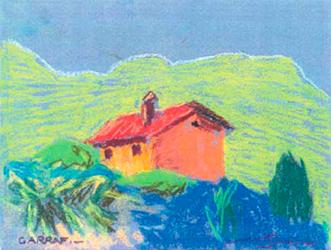 El Garraf Pintura al pastel 17 x 13 cm
