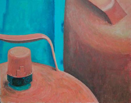 Gas taronja Acrílic sobre tela 81 x 65 cm
