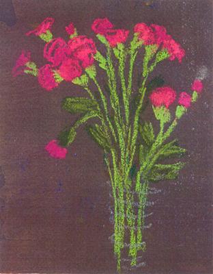 Gerro amb flors 2 Pintura al pastel 13 x 17 cm