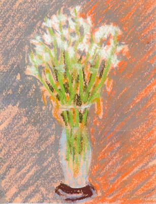 Gerro amb flors 4 Pintura al pastel 13 x 17 cm