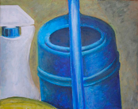 Jardineria en blau Acrílic sobre tela 81 x 65 cm
