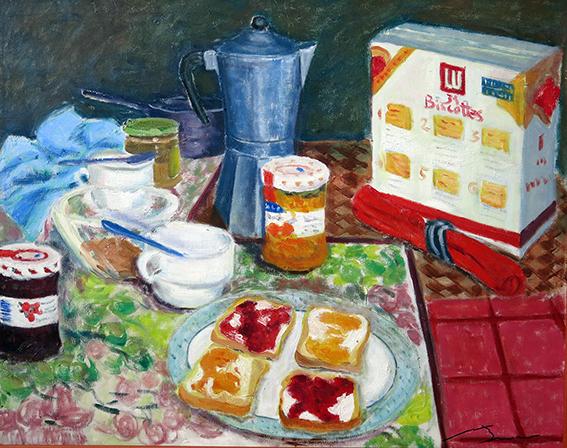 L'esmorçar Oli sobre tela 81 x 65 cm