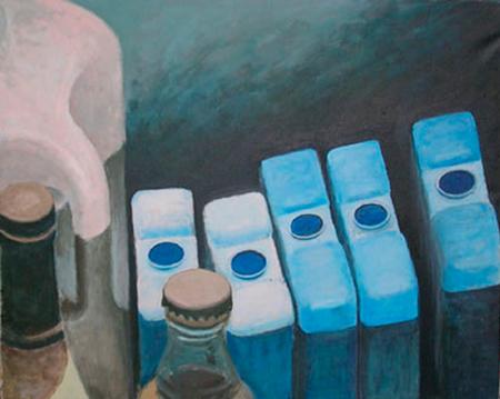 Líquids blaus Acrílic sobre tela 81 x 65 cm