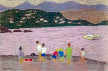 Llançà 2 Pintura al pastel 25 x 16 cm