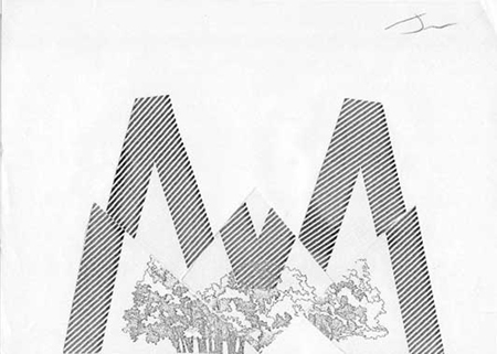 Muntanya Collage sobre paper 30 x 22 cm