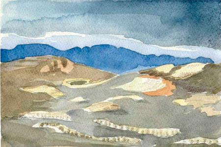 Muntanyes de Lanzarote Aquarel·la 20 x 29 cm