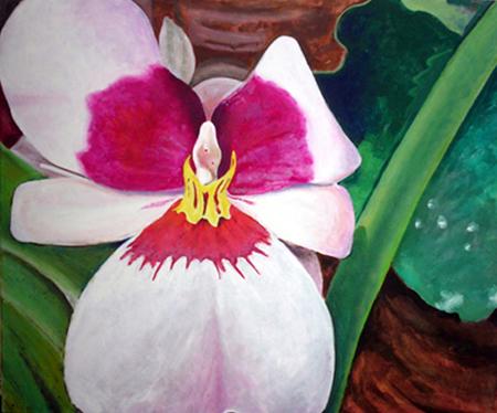 Orquídea 1 Pintura Acrílica 100 x 81 cm