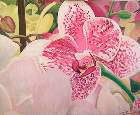 Orquídea 2 Pintura Acrílica 100 x 81 cm