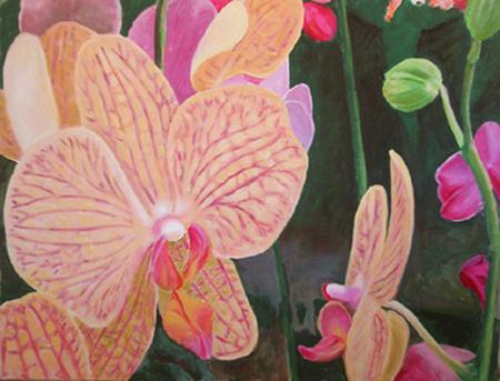 Orquídea 3 Pintura Acrílica 100 x 81 cm