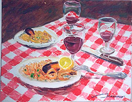 Paella per a Londres Oli sobre tela 65 x 54 cm