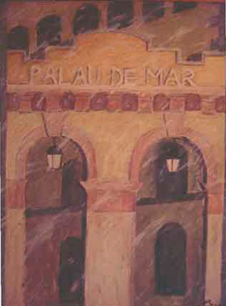 Palau de Mar Oli sobre tela 100 x 81 cm