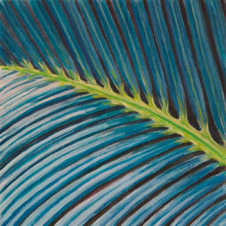 Palmera Acrílic sobre tela 30 x 30 cm