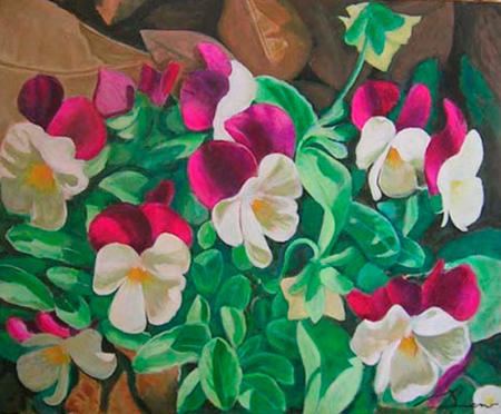 Pensaments Pintura Acrílica 100 x 81 cm