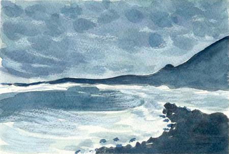 Platja de Lanzarote Aquarel·la 20 x 29 cm