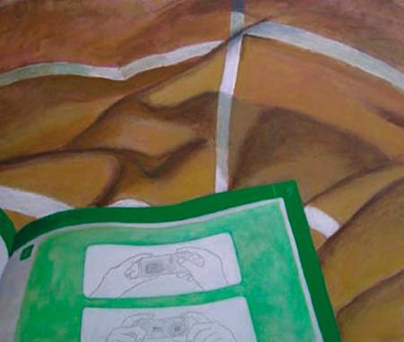 Verd sobre línies Acrílic sobre tela 81 x 65 cm
