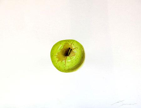 Poma golden Acuarel·la 31 x 23 cm