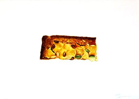 Tros de coca Acuarel·la 31 x 23 cm