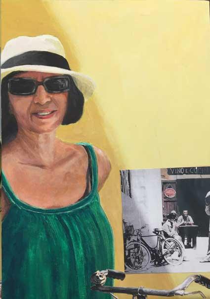 A l'illa de Neruda Acrílic i collage sobre tela Mides 55 x 38 cm